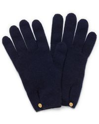 Mulberry - Cashmere Gloves In Navy Cashmere - Lyst