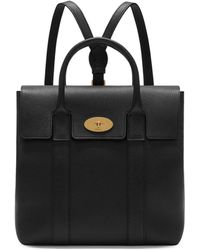 Mulberry - Bayswater Backpack In Black Small Classic Grain - Lyst
