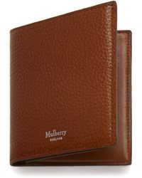 Mulberry Trifold Wallet In Oak Natural Grain Leather - Brown