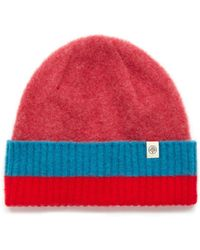 Mulberry - Knitted Beanie In French Rose Lambswool - Lyst