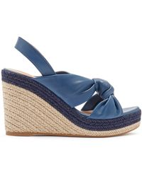 Mulberry Sunset Espadrille Sandal In Pale Navy Soft Lamb Nappa - Blue