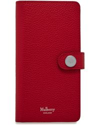 Mulberry Iphone X/xs Flip Case In Scarlet Small Classic Grain - Red