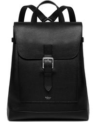 Mulberry Chiltern Backpack In Black Natural Grain Leather