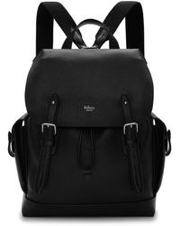 Mulberry Heritage Backpack In Black Natural Grain Leather