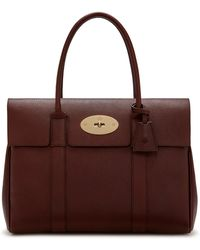Mulberry Bayswater In Oxblood Natural Grain Leather - Multicolour