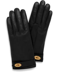 Mulberry Darley Gloves In Black Smooth Nappa