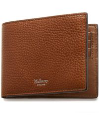 Mulberry - 8 Card Wallet In Oak Natural Grain Leather - Lyst