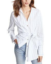 Brochu Walker - Crewe Wrap Shirt - Lyst