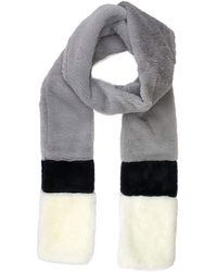 Michael Stars To Furition Faux Fur Scarf - Gray