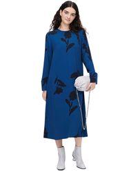Marimekko Talvehtia Print Midi Dress - Blue