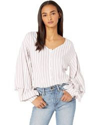 Cupcakes And Cashmere Syd Stripe Blouse - Pink