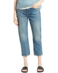 Vince Union Slouch Crop Jeans - Blue