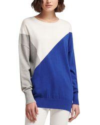 DKNY - Living Linear Colorblock Sweatershirt - Lyst