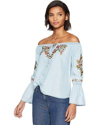Cupcakes And Cashmere Adrien Embroidered Top - Blue