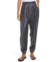 Tibi Liquid Drape Pleated Pants - Black