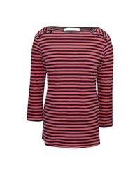 Stateside Striped Boat Neck Tee - Red