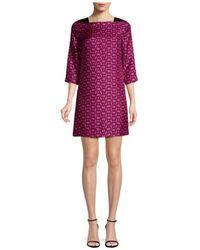 MILLY - Julia Chain Print Mini Dress - Lyst
