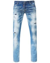 DSquared² Slim Jeans Faded Wash - Blue