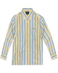 Façonnable Embroidered Logo Stripe Pattern Shirt - Yellow