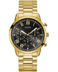 Guess Stainless Steel Sunray Multi-function Watch - Metallic