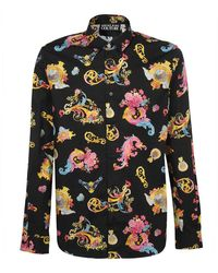 Versace Jeans Couture - Slim Fit Print Cameo Shirt - Lyst