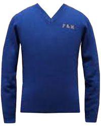 Franklin & Marshall Knitted Blue Jumper