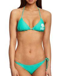 Franklin & Marshall Logo Print Beach Bikini - Green