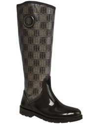 Tommy Hilfiger Oxford 7 Wellington High Boots - Brown
