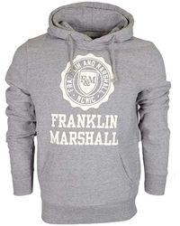 Franklin & Marshall Franklin & Marshal Pullover Hoodie - Grey