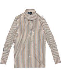 Façonnable Striped Pattern Classic Shirt - Orange