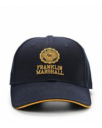 Franklin & Marshall Stamp Logo Baseball Cap - Blue