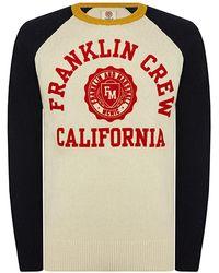 Franklin & Marshall California Logo Knitted Jumper - Multicolour