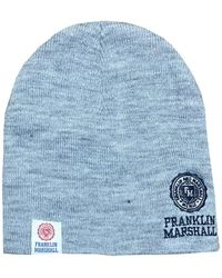 Franklin & Marshall Embroidered Logo Knit Hat - Blue