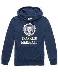 Franklin & Marshall Franklin & Marshal Pullover Hoodie - Blue