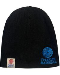 Franklin & Marshall Embroidered Logo Knit Hat - Black