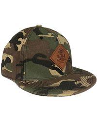 Franklin & Marshall Badge Logo Camouflage Cap - Green