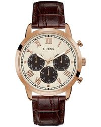 Guess Dress Stainless Steel Watch - Brown