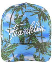 Franklin & Marshall Franklin & Marshal Palm Print Baseball Cap - Blue