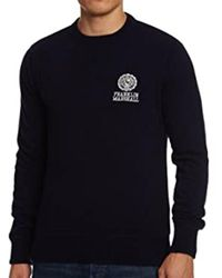Franklin & Marshall Embroidered Logo Wool Knit Navy - Blue