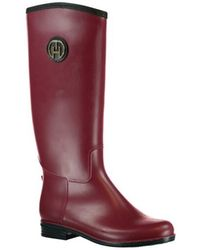 Tommy Hilfiger Oxridge 3r Wellington Tall Boots - Red