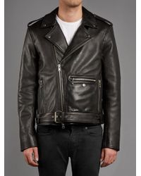 Muubaa - Trident Leather Biker Jacket In Black - Lyst