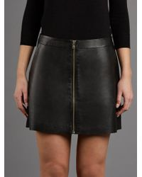 Muubaa - Impala A-line Black Leather Mini Skirt - Lyst