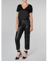 Muubaa - Cropped Trousers Black - Lyst