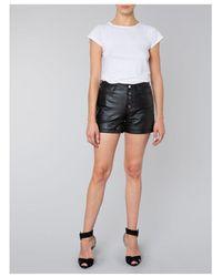 Muubaa Linaria Black Leather Shorts