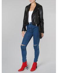 Muubaa - Manning Black Leather Biker Jacket - Lyst