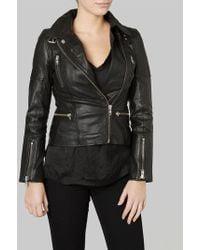 Muubaa - Laurel Black Biker Jacket (plain Version) - Lyst