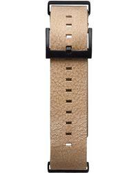 MVMT Voyager - 21mm Sandstone Leather - Black