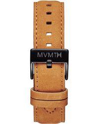 MVMT 40 Series - 20mm Tan Leather - Black