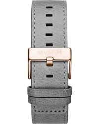 MVMT - Classic - 24mm Light Grey Leather - Lyst