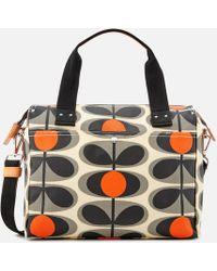 Orla Kiely - Canvas Flower Stem Print Zip Messenger Bag - Lyst